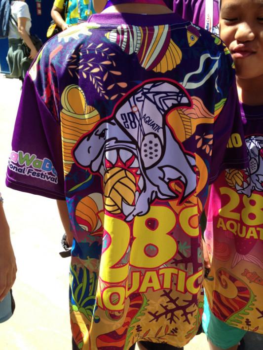 I 28 Degrees Aquatic di Singapore hanno già vinto il premio di squadra più colorata dell'HaBaWaBa