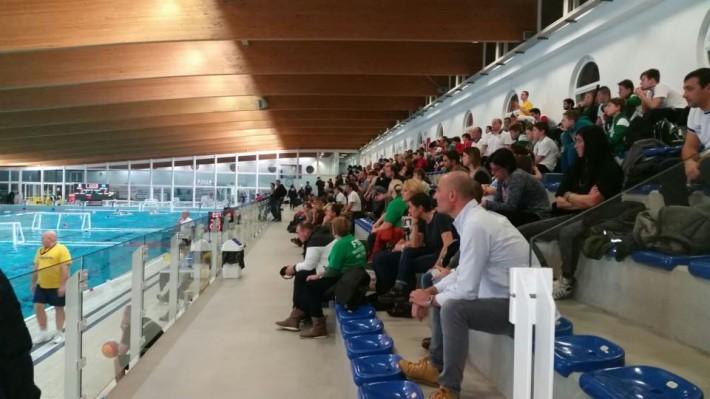 Tribuna gremita per Barcelona-Mentalfitol Szeged, ultimo match della 1a giornata