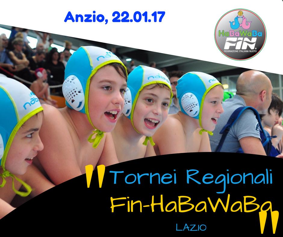 Tornei regionali Fin-HaBaWaBa   Lazio, i risultati della giornata di Anzio
