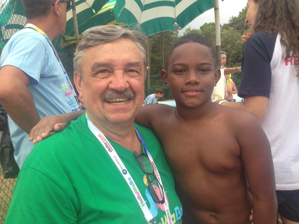 Rudic con Caua, giocatore dell'Abda Bauru U9
