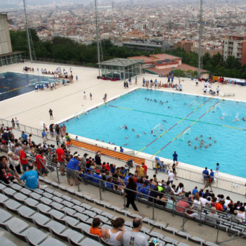 The pool of Montjuic, venue of HaBaWaBa Barcelona
