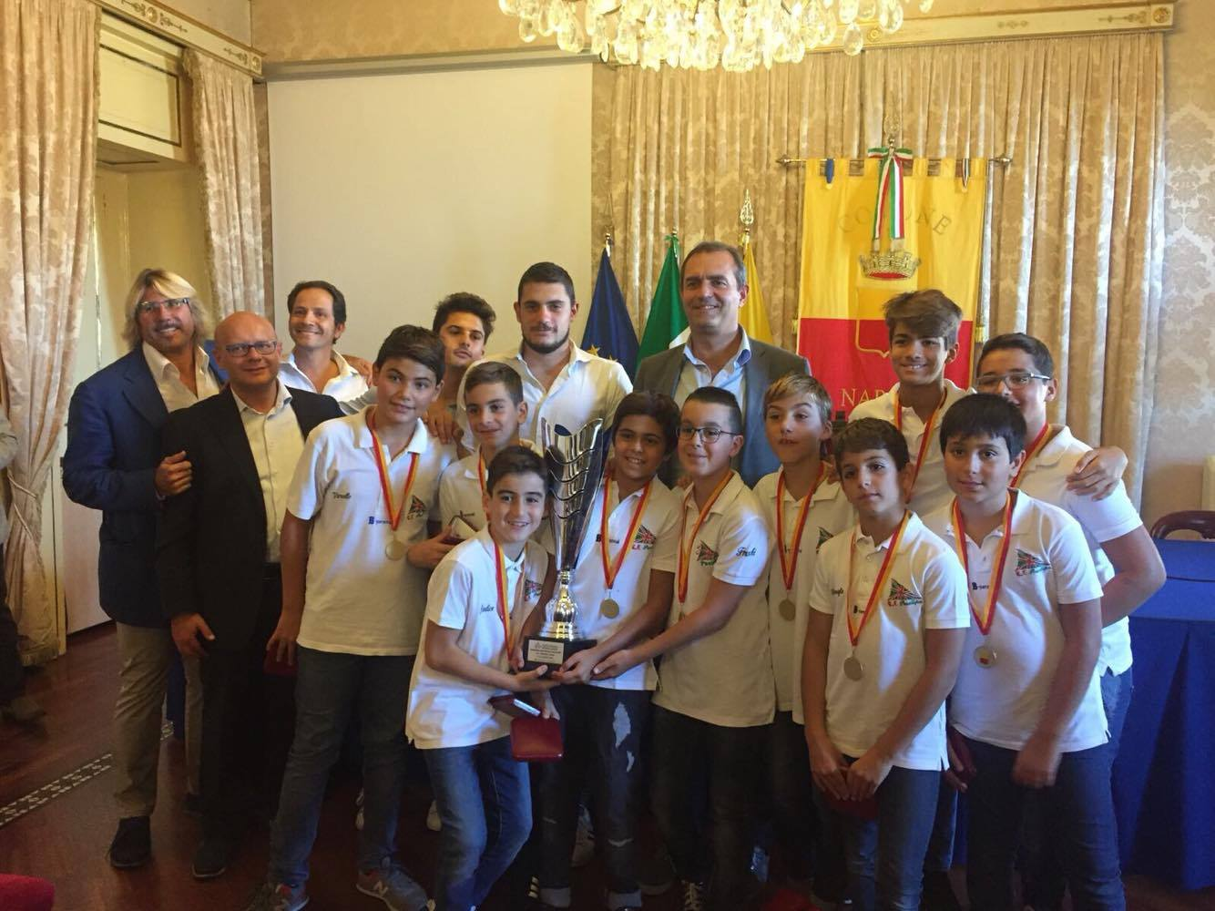 Posillipo U11 premiato da De Magistris Napoli