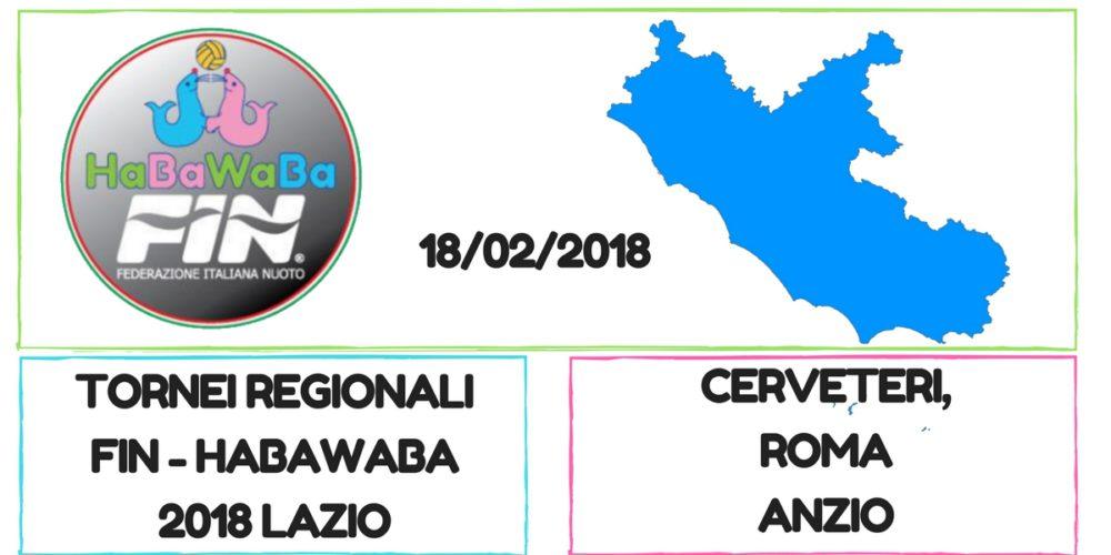 Copy of TORNEI REGIONALI FIN - HABAWABA 2018 lazio cerveteri roma anzio 18 febbraio