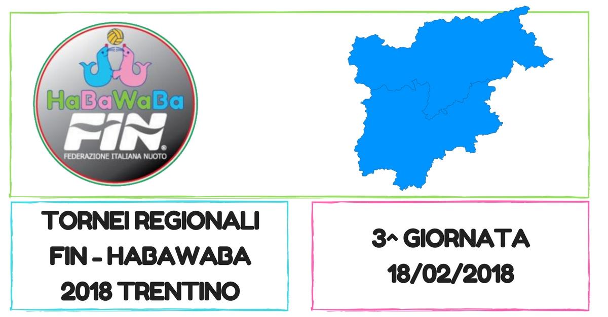 Copy of TORNEI REGIONALI FIN - HABAWABA 2018 trentino alto adige 18 febbraio