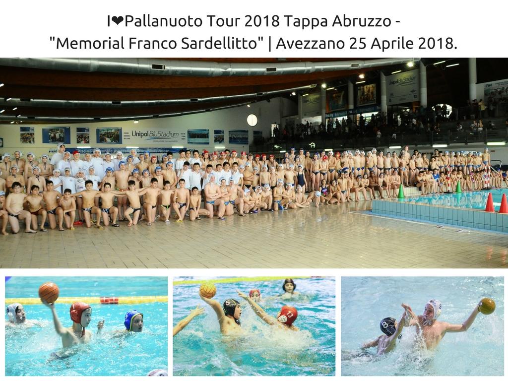 I❤️Pallanuoto Tour 2018Tappa Abruzzo - _Memorial Franco Sardellitto_ Avezzano 25 Aprile 2018