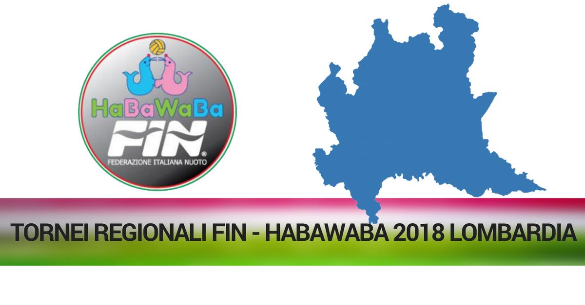 TORNEI REGIONALI FIN - HABAWABA 2018 LOMBARDIA