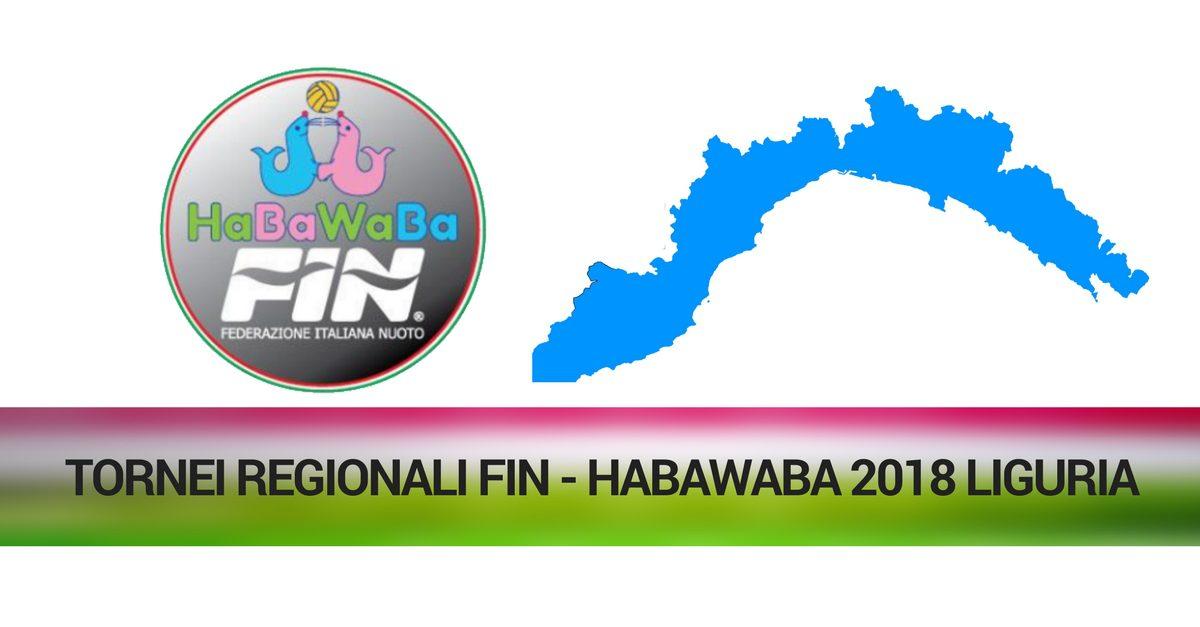 TORNEI REGIONALI FIN - HABAWABA 2018 liguria