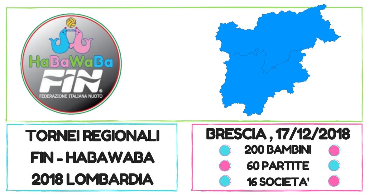 TORNEI REGIONALI FIN - HABAWABA 2018lombardia brescia 18 02 2018