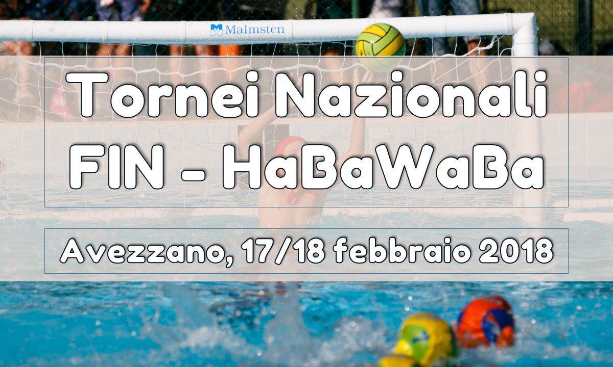 tornei nazionali fin habawaba avezzano 17 18 febbraio 2018