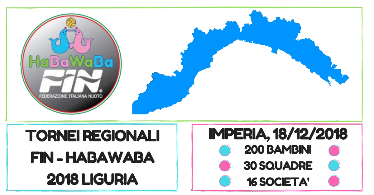 Copy of TORNEI REGIONALI FIN - HABAWABA 2018 liguria imperia 18 02 2018