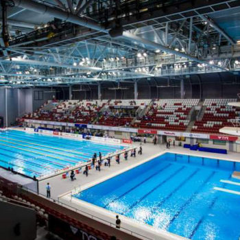 The OCBC Aquatic Center (AQC) in Singapore