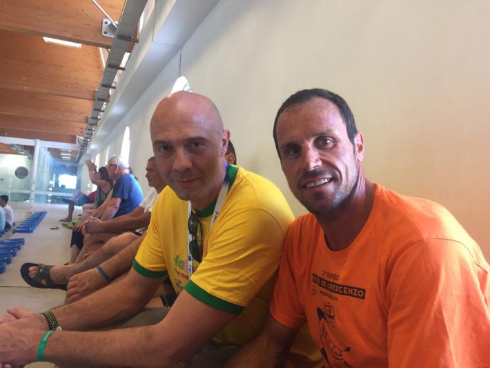 Bencivenga and his former teammate in Posillipo Francesco Postiglione