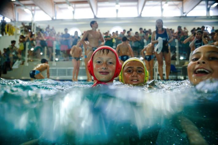 La gioia a fine gara dei piccoli campioni del Bogliasco 09