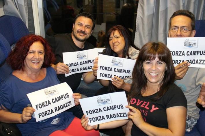 Sacrifici per l'HaBaWaBa: i tifosi della Campus Roma partiti di notte per essere presenti alle 8 al match con il Cattaro
