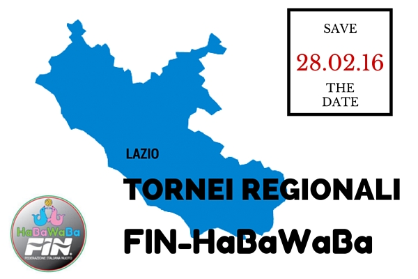Tornei Regionali Fin-HaBaWaBa Lazio | il 28.02.16 via alla seconda tappa!
