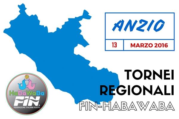 Tornei Regionali Fin-HaBaWaBa Lazio | il 13.03.16 terza tappa ad Anzio!