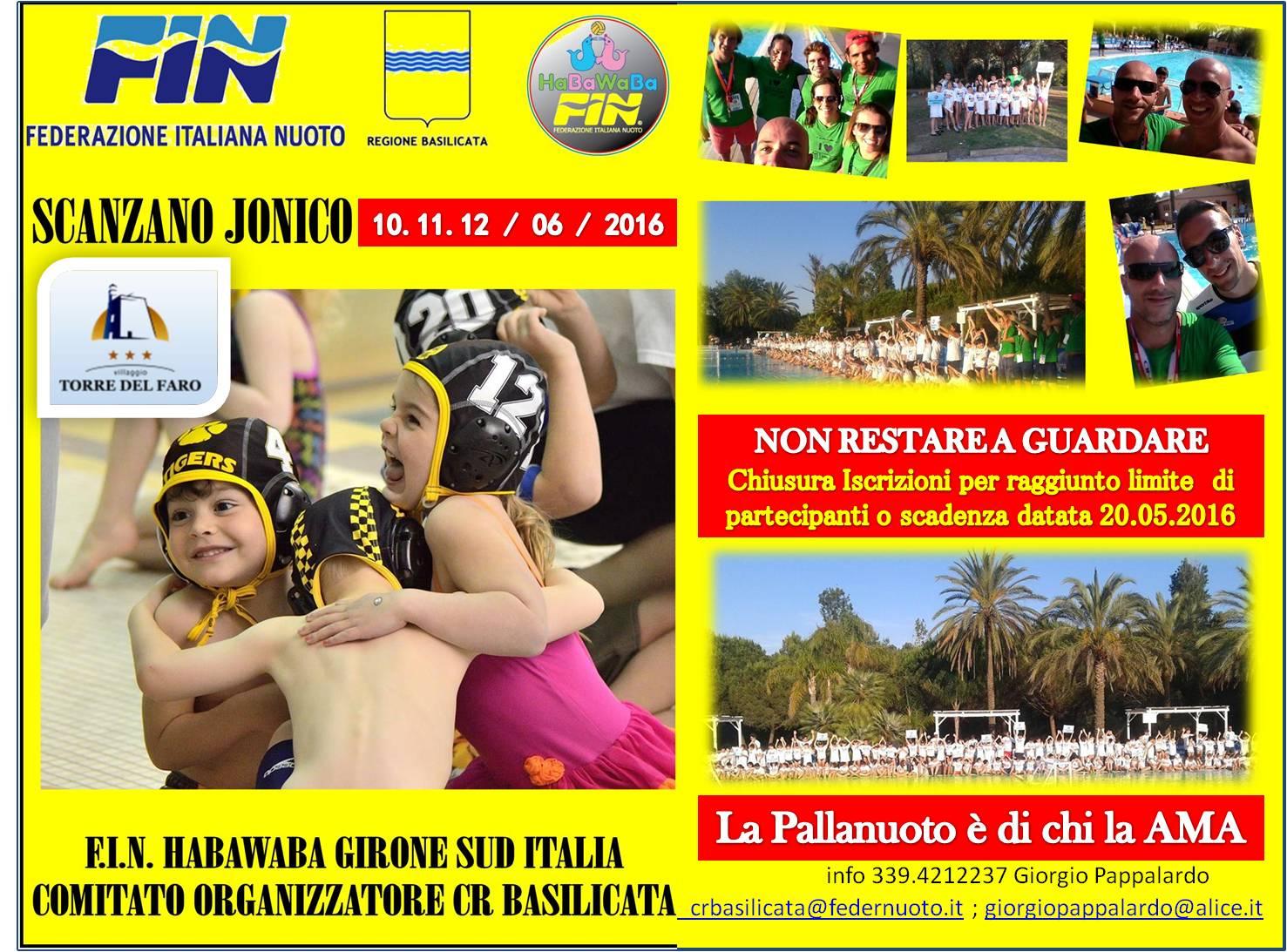 Tornei Nazionali Fin-HaBaWaBa | Info per iscrizione al torneo di Scanzano Jonico, 10-12 giugno 2016