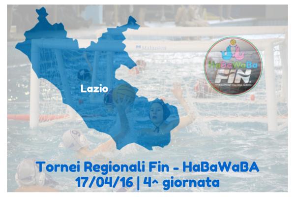 Tornei regionali Fin-HaBaWaBa | Lazio, il 17/4 si gioca la quarta giornata