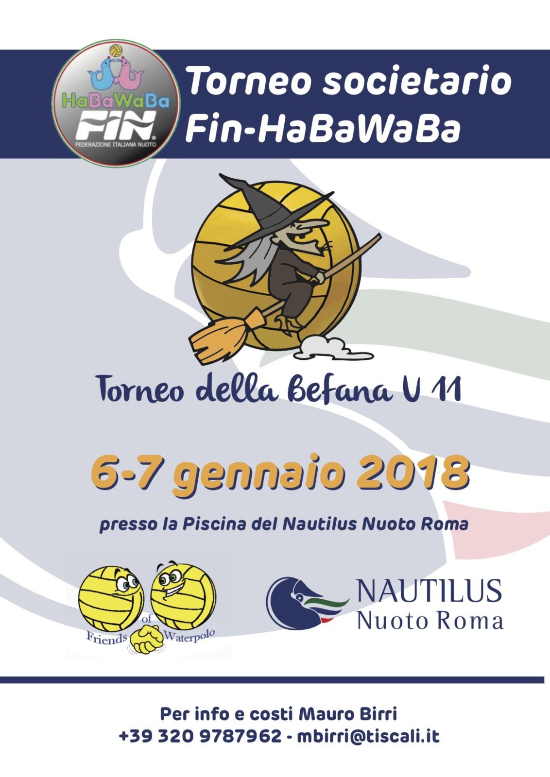 Tornei societari Fin-HaBaWaBa | Roma, 6/7 gennaio 2018