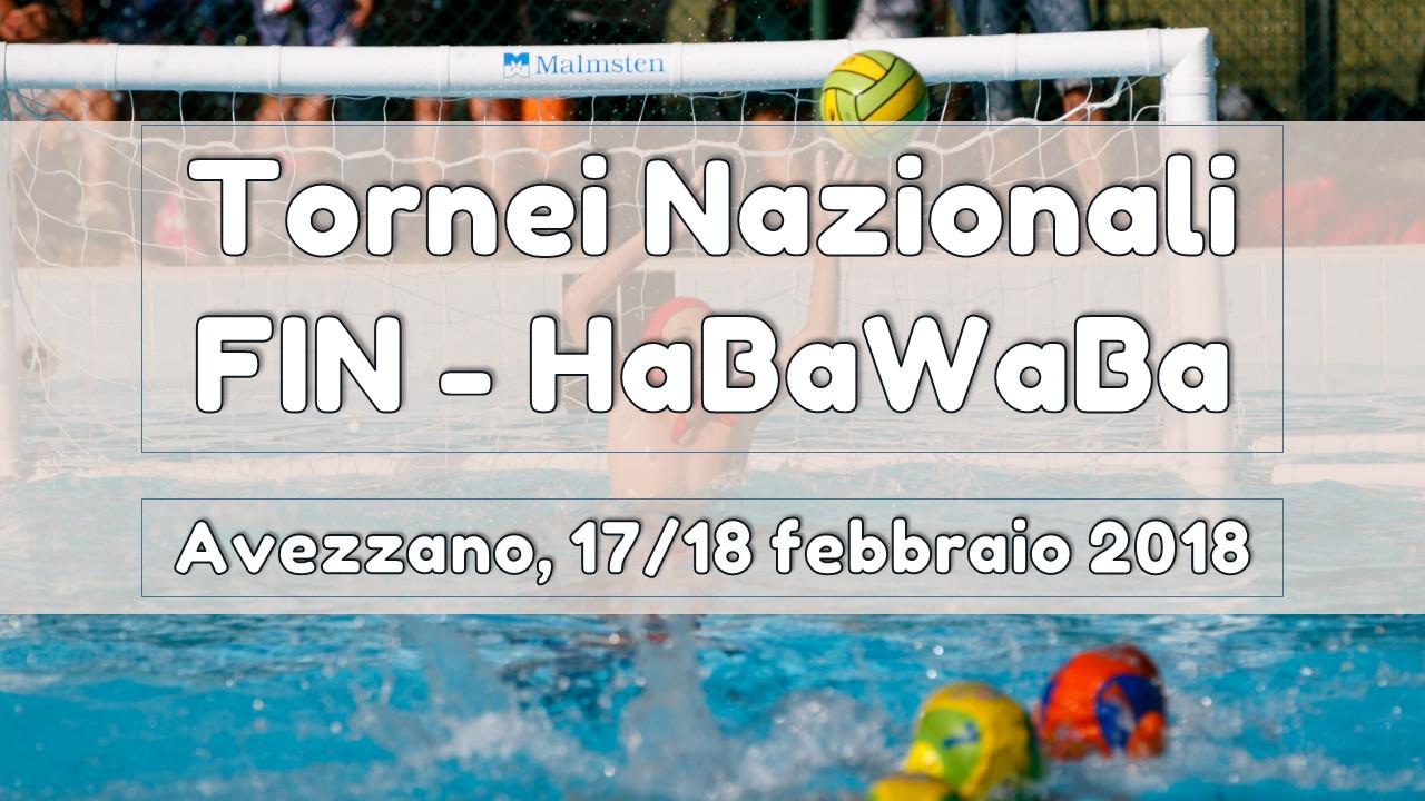 Tornei Nazionali Fin – HaBaWaBa: Avezzano, 17-18 febbraio 2018