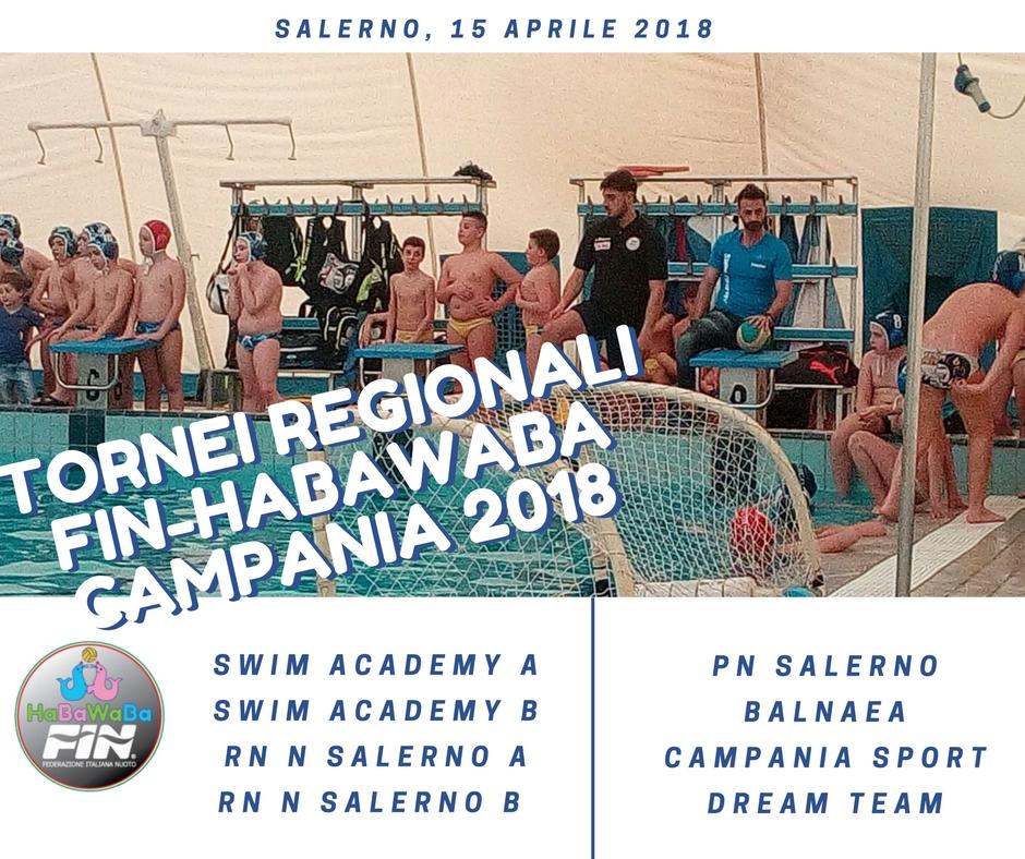 Tornei regionali Fin – HaBaWaBa Campania | A Salerno la 9^ e 10^ giornata