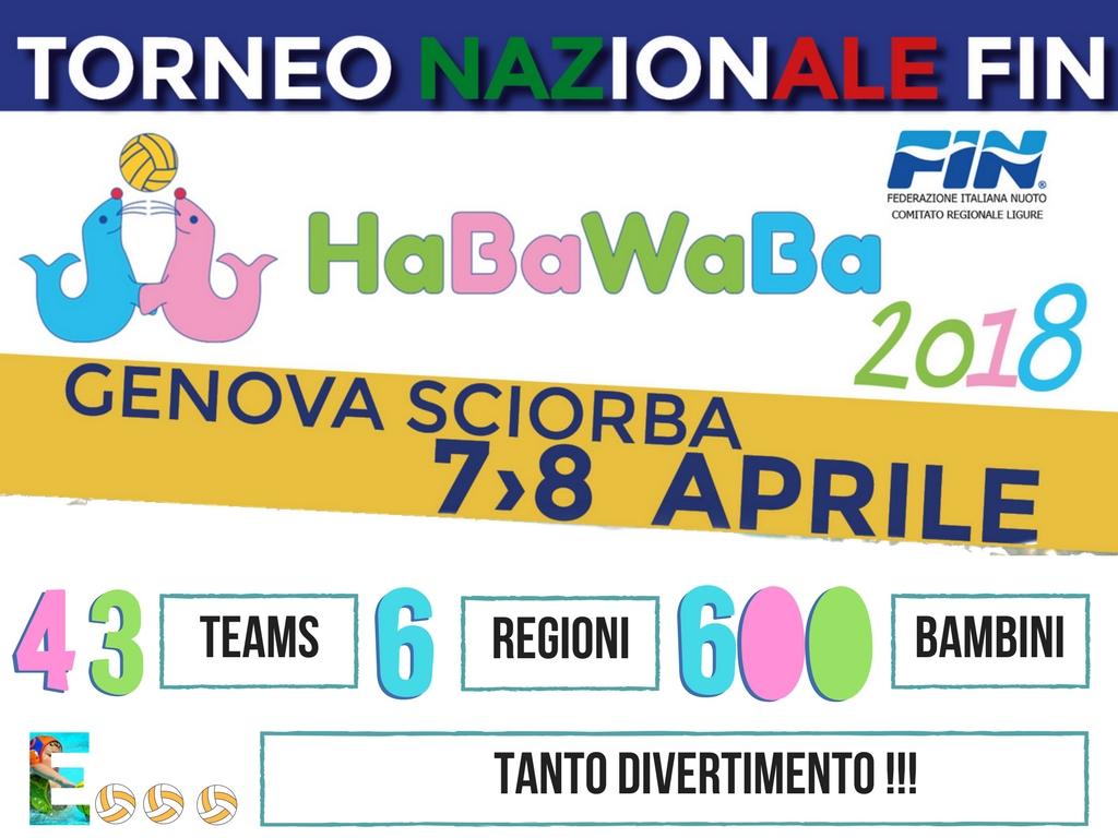 Torneo nazionale Fin – HaBaWaBa | ancora un successo a Genova