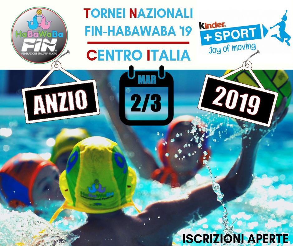 Tornei Nazionali Fin – HaBaWaBa| Anzio, 2-3 marzo 2019
